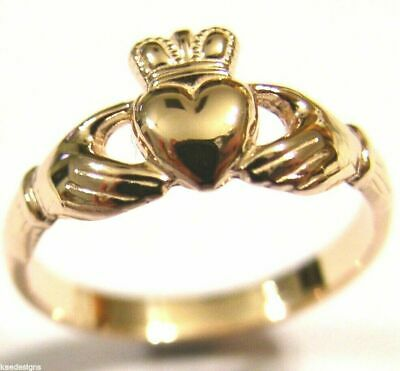 AU282.45 • Buy  9ct 375 Solid Rose Gold Claddagh Celtic Friendship Ring In Your Size