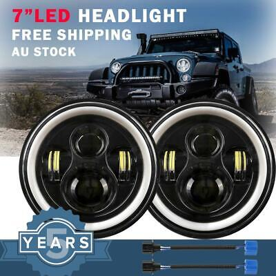 AU66.99 • Buy Pair 7inch LED Driving Headlight Lights High Low White DRL Truck Offroad 4x4 SUV