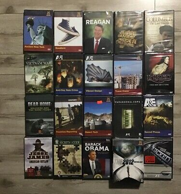 $ CDN70.51 • Buy Lot Of 20 History Channel Biography A&E DVDs Brand New Factory Sealed DVD