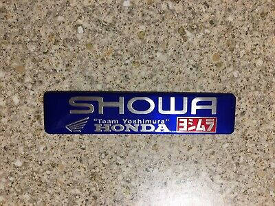 SHOWA Blue Aluminium Heat Resistant Sticker Badge Decal 3D Mx Exhaust Honda • 3.69£
