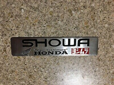 SHOWA Silver Aluminium Heat Resistant Sticker Badge Decal Mx Exhaust Honda • 3.69£