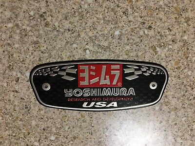 YOSHIMURA R&D Aluminium Heat Resistant Sticker Badge Decal Mx Exhaust • 3.69£