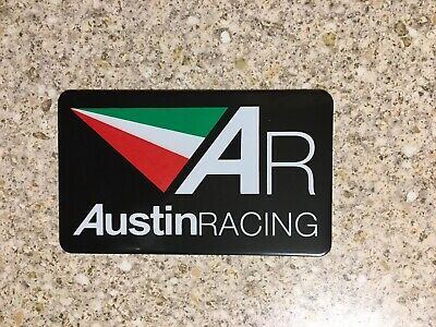 AUSTIN RACING Aluminium Heat Resistant Sticker Emblem Badge Decal Mx Exhaust  • 3.69£