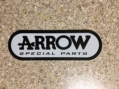 ARROW Big White Aluminium Heat Resistant Sticker Emblem Badge Decal Mx Exhaust • 3.69£