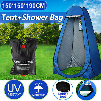 AU36.98 • Buy Pop Up Camping Shower Toilet Tent Outdoor Privacy Change Room Shelter+Shower Bag
