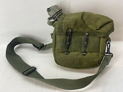 $ CDN30.32 • Buy Od Green 2qt 2 Quart Canteen Carrier Us Military Alice Clips Cover Pouch (#509)