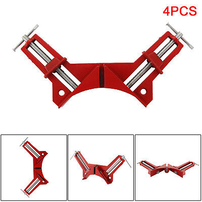 4pcs 4  100mm Mitre Corner Clamps Picture Frame Holder Woodwork Right Angle UK • 6.99£