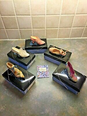 Collection Of Five Rare Just The Right Shoe By Raine - Miniature Shoe Ornaments • 37.80£
