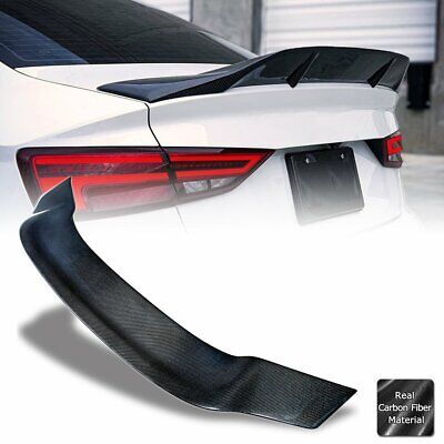 $194.90 • Buy R Style Real Carbon Fiber Trunk Spoiler Wing For 2013-20 Audi A3 S3 RS3 MK3