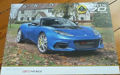 $ CDN37.62 • Buy 🚦🚦Brochure 2018 LOTUS EVORA GT 410 Prospekt Dépliant Catalogue French - RARE