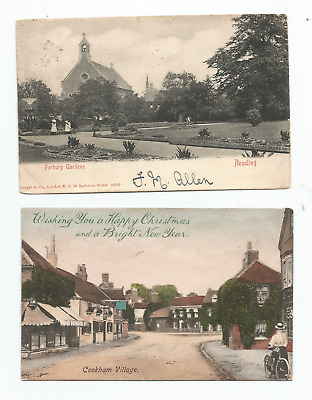 VINTAGE POSTCARDS- Topographical. Berkshire. X2. 1 Of Cookham. • 1.20£