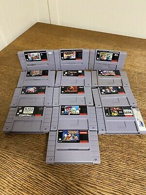 $ CDN167.96 • Buy Snes Super Nintendo 13 Game Lot - Mario Missing, Mortal Kombat, F-zero