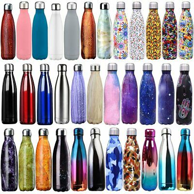 AU19.59 • Buy 350-1000ml Stainless Steel Water Bottle Double Wall Vacuum Insulated Flask Drink