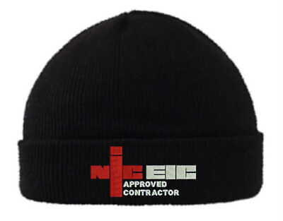 £12.99 • Buy  Custom Embroidered NICEIC Hats Pullover Cuffed Beanie 4 Professionals