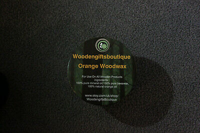 Orange Scent Wood Furniture Wax, Natural Wood Beeswax Polish, 200m Tinl  • 10£