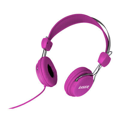 AU9.95 • Buy NEW Laser Headphones Stereo Kids Friendly Colourful Pink