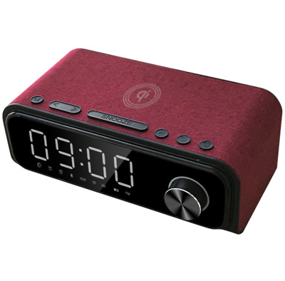 AU129.95 • Buy Laser Alarm Clock Qi Wireless Charging With Bluetooth Speaker Red