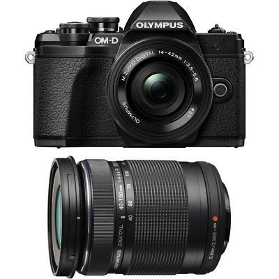 Olympus OM-D E-M10 II Camera With 14-42mm EZ And 40-150mm Twin Lens Kit - Black • 529£