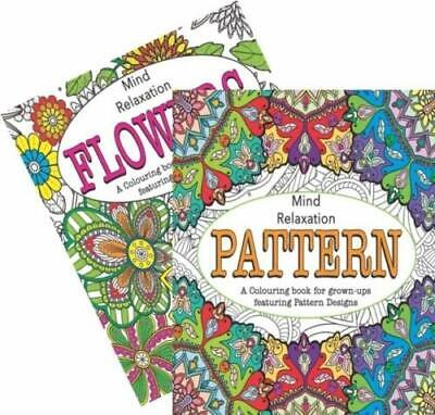 A4 Adult Colouring Books Pattern/Flowers Relaxation Anti Stress  • 3.49£