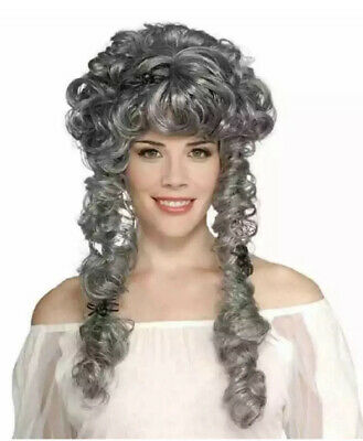 NEW Rubie's GHOST BRIDE Wig Updo Curls Victorian Gray Zombie Costume Halloween • 14.47£