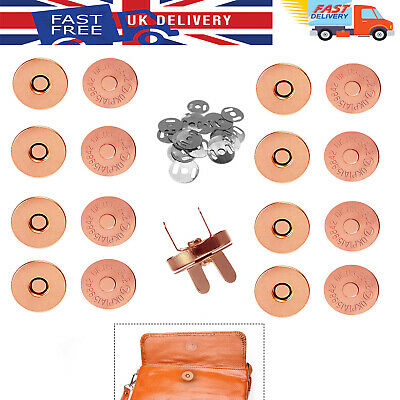 14/18mm Magnetic Snap Button Fasteners Metal Clasps Closure For DIY Crafts Bags • 2.39£