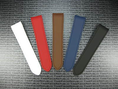 New 24.5mm PU Rubber Strap For Fits CARTIER SANTOS 100 Chronograph XL Watch Band • 34.16£