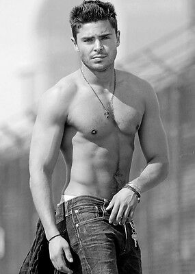 ZAC EFRON Shirtless Movie Fan Large Poster Print Wall Art Room Decor A4 A2 A1 • 12.59£