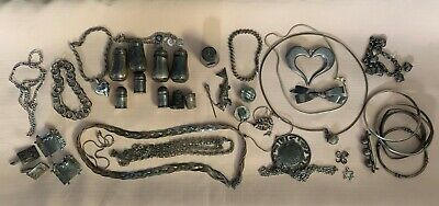 $ CDN331.41 • Buy Lot Of Sterling Silver Jewelry, Salt & Pepper, Thimbles,  15 Ounces