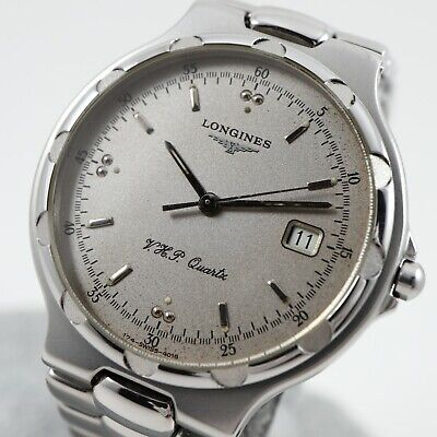 $ CDN315 • Buy LONGINES CONQUEST V.H.P. Silver Dial 4018 Cal. L174.4 Swiss Vintage Watch