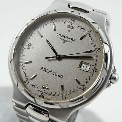 $ CDN335 • Buy LONGINES CONQUEST V.H.P. Silver Dial Ref. 4018 Cal. L174.4 Swiss Vintage Watch