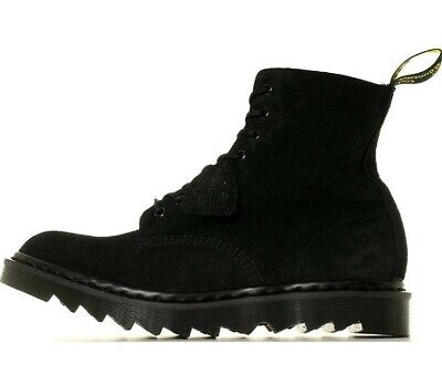 AU277.28 • Buy NEW! DR MARTENS PASCAL 1460 RP BOOTS RIPPLE - BLACK SUEDE Made In England UK 9.5