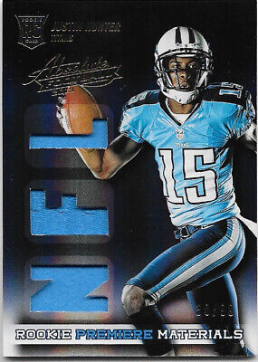 $0.99 • Buy Justin Hunter 2013 Absolute Rookie Premiere Materials NFL Jersey #38/99 - Titans