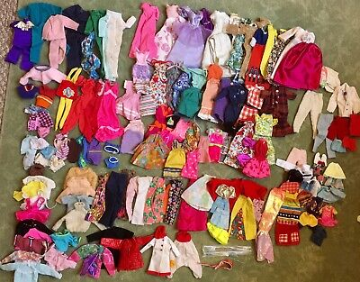 $ CDN51.61 • Buy Lot Of 140 Pieces Handmade Or Labeled Barbie Size Used Doll Clothes. Vintage/Mod