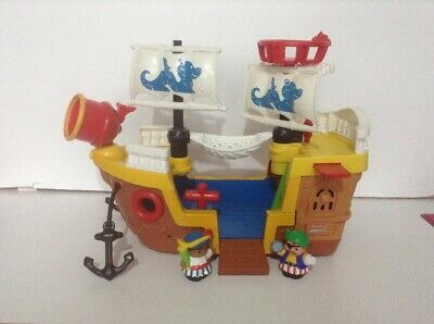 Fisher Price Little People Pirate Ship With Sounds And Figures • 10£