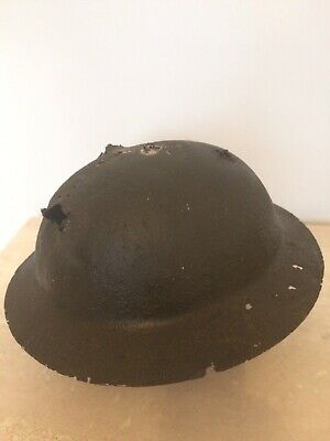 Ww1 British Brodie Helmet, Raw Edge, Battle Damaged Bullet And Shrapnel Damage! • 45.99£
