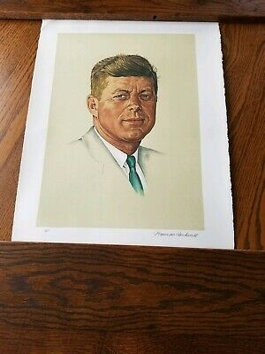 $ CDN2526.27 • Buy Artist Proof Norman Rockwell John F. Kennedy A/P Signed RARE
