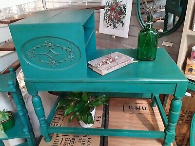 Vintage/ Antique  Telephone Table/Seat  Annie Sloan Chalk Paint *Florence * • 75£