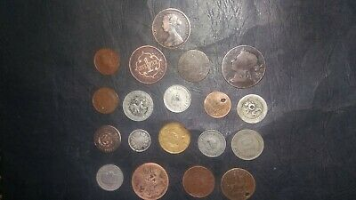 Small Collection Of Foreign Coins All 1800s • 4.99£