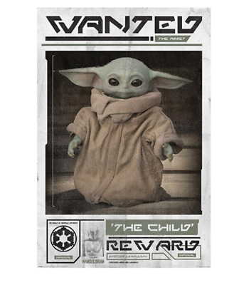 $10.50 • Buy MANDALORIAN - BABY YODA WANTED POSTER 24x36 - THE CHILD STAR WARS 54005