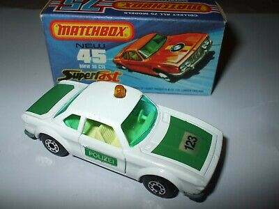 $17.49 • Buy Matchbox Lesney Superfast #45 BMW 3.0 CSL In RARE WHITE  POLIZEI  VNMIB!