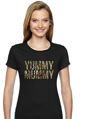 YUMMY MUMMY Leopard Print T-Shirt C - Cool Funny Mother's Day Birthday Gift • 10.45£