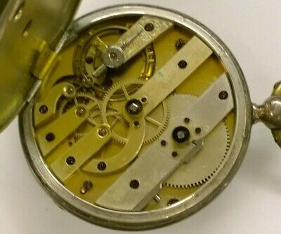 $ CDN8.81 • Buy Working Ancre Ligne Droite 15 Rubis Pocket Watch SN:10627 Watchmaker No Reserve!