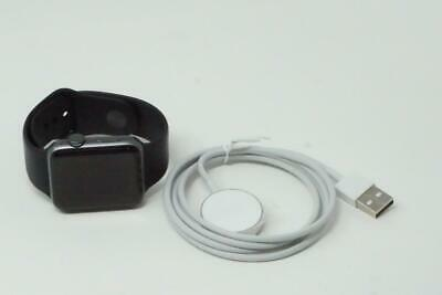 $ CDN165.64 • Buy Apple Watch Series 2 42mm Space Gray Aluminum Case Black Band A1758 Used B1291