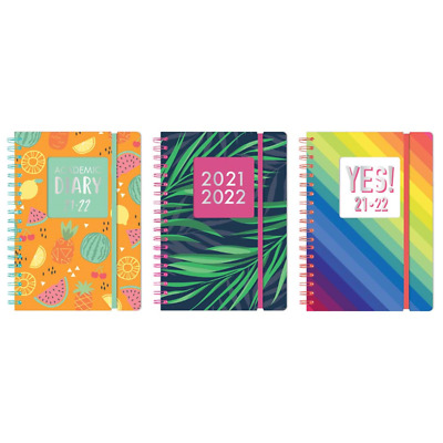 £5.99 • Buy 2021-2022 Diary A5 Day To Page Academic Diary Spiral Bound Student Teacher Diary