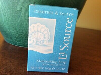 CRABTREE & EVELYN - La Source - Moisturising Soap With Shea Butter 100g Dry Skin • 12£