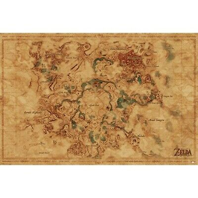 $6.95 • Buy LEGEND OF ZELDA - HYRULE MAP POSTER 24x36 - 3564 *CREASED*