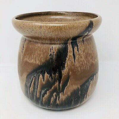 $ CDN32 • Buy Blue Mountain Pottery Planter With Mocha Drip Glaze Vintage Canadian Pottery