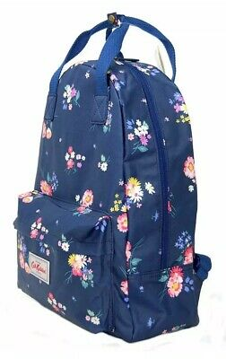 Cath Kidston Backpack Rucksack Navy Floral Flower Print Oilcloth BNWT  • 29.99£