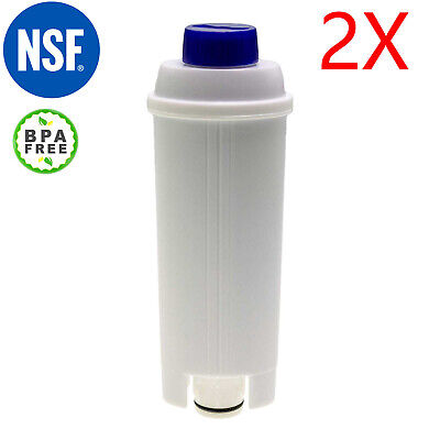 AU25.99 • Buy Twin Pack Coffee Water Filter For Delonghi DLSC002 5513292811 SER3017 5513212441