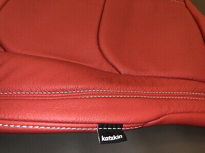 $729.98 • Buy Chevy Chevrolet Camaro Convertible Red Katzkin Leather Seat Replacement Covers